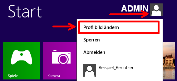 question windows profilbild andern oder loschen