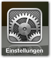 iPad, iPhone, iPad, Mini iOS: Einstellungen Button