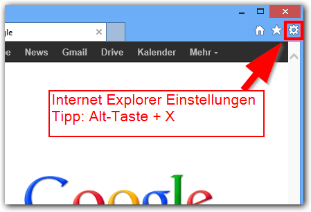 Windows 8: Internet Explorer für Desktop Einstellungen