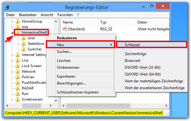 Windows 8 Registry: ImmersiveShell