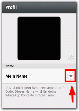 Android WhatsApp Namen ändern