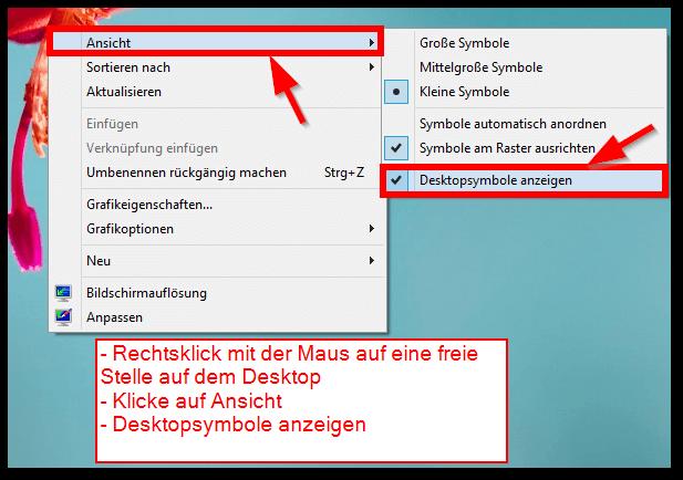 windows anleitung desktopsymbole oder ausblenden