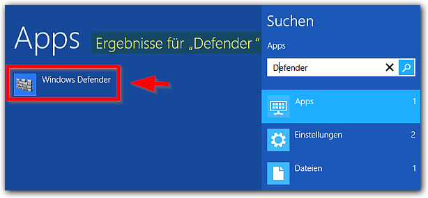 Windows 8: Windows-Defender-App