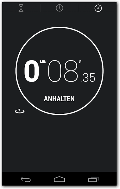 Android 4.2.2 Stoppuhr