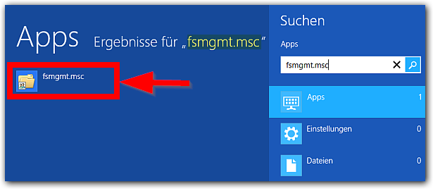 Windows 8: fsmgmt.msc