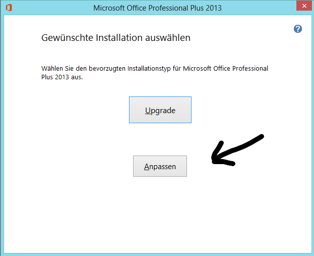 Installation von Office Professional Plus 2013