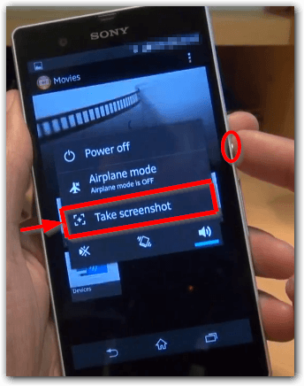 Sony Xperia L Screenshots machen Methode 2