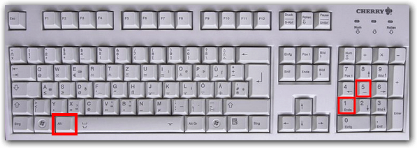 Totenkreuz Tastatur