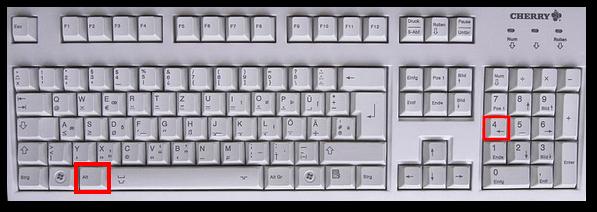Tastaturzeichen bilder aus Pfeile: →
