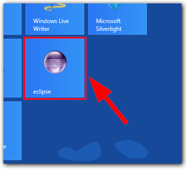 Windows 8: Eclipse Kachel