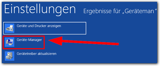 Windows 8: Geräte-Manager
