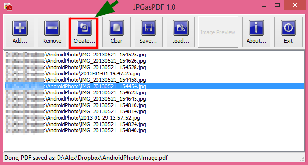 JPGasPDF Screenshot