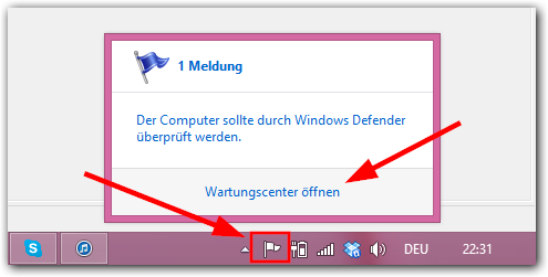 Windows 8 Wartungscenter