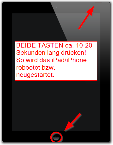 iPad, iPhone, iPod neustarten bzw. rebooten