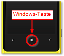 Windows Taste bei Windows Phone 8