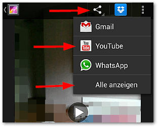 Android: Video bei YouTube hochladen (Bild 1)