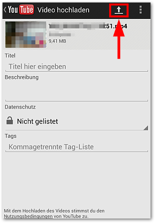 Android: Video bei YouTube hochladen (Bild 2)