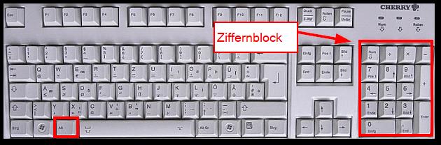 paragraph zeichen auf der tastatur
