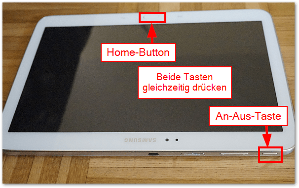 Samsung Galaxy Tab TabPRO Screenshot machen