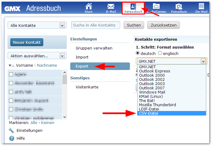 Kontakte aus GMX in Window 8 Kontakte App einfügen - TechFrage