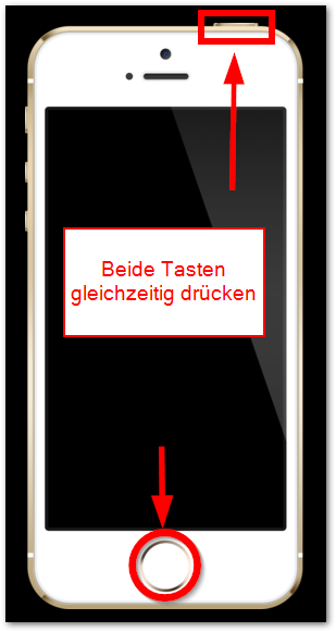 iPhone 5s und iPhone 5c screenshot erstellen