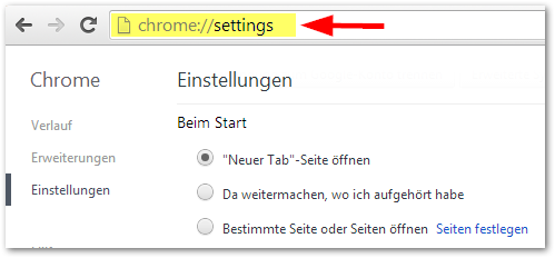 chrome://settings/