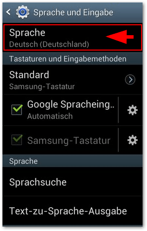 Samsung Galaxy Ace 2: Sprache