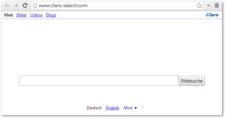 www.claro-search.com Screenshot