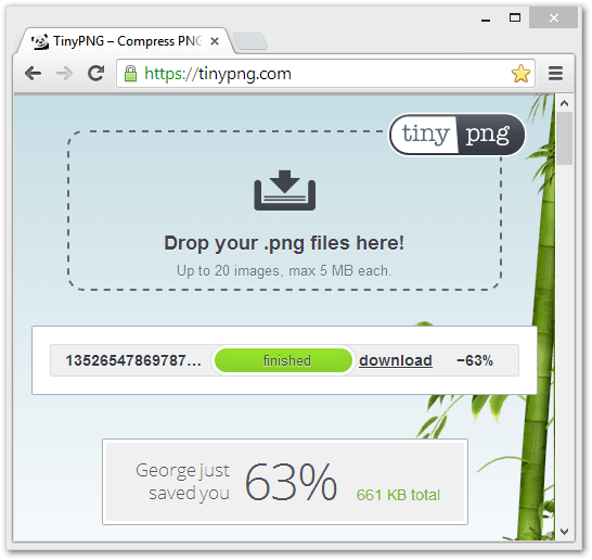 tinypng.com Screenshot