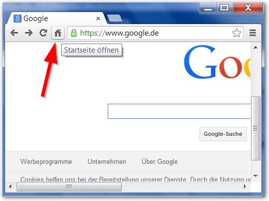 Google Chrome HomePage Button