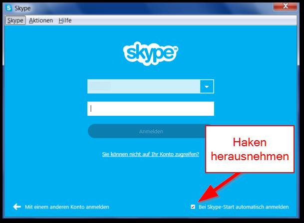 skype windows archiv start automatisch anmelden
