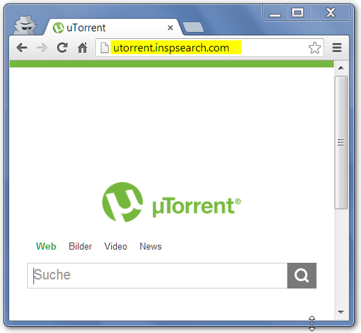Screenshot Utorrent.inspsearch.com