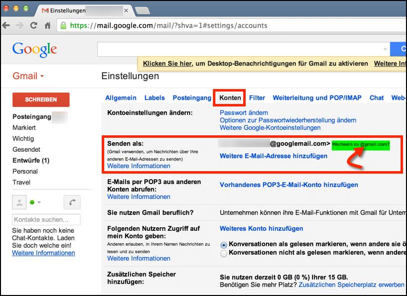 Gmail Googlemail Unterschied