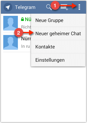 geheimer Chat