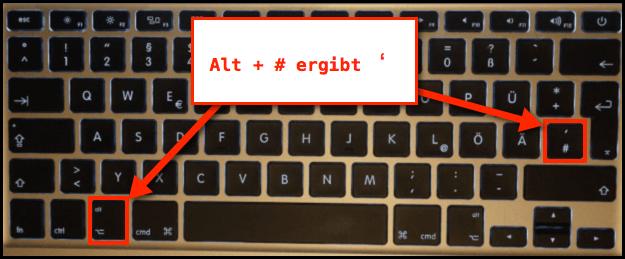 anführungszeichen unten oben tastatur