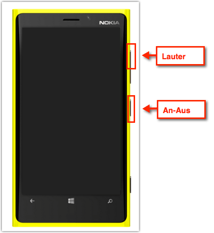 Windows Phone 8.1: Screenshots/Hardcopy/Bildschirmfoto erstellen