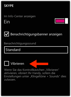 Windows Phone: Skype Vibration