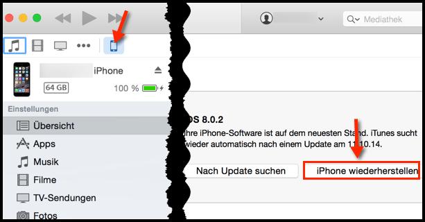 iphone komplett zurücksetzen