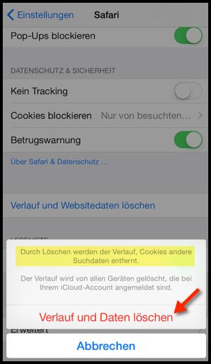 Iphone App Verlauf Loschen