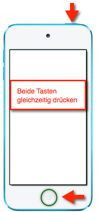 iPod Touch: Screenshot/Hardcopy vom Bildschirm machen