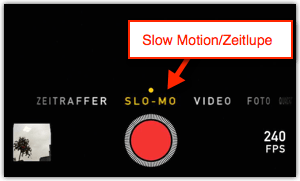 iPhone iPad: Slow Motion