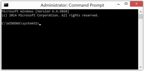 Eingabeaufforderung (Command Prompt) unter Windows 8.1