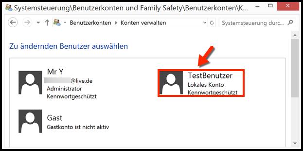 benutzer anlegen windows 10 lokal