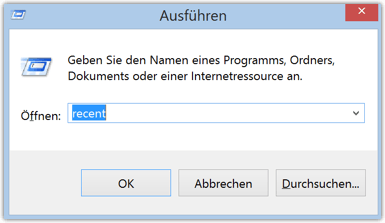 Windows 8 oder 8.1 recent Kommando