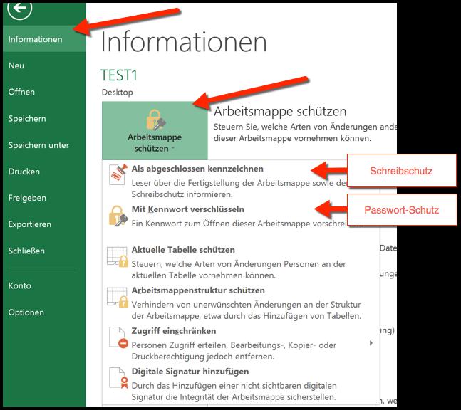 Excel Arbeitsblatt Passwort Schützen : Excel dokument schützen passwort oder schreibschutz