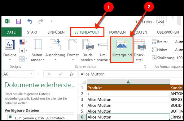 Excel Hintergrundbild Einfügen Oder Löschen Techfrage