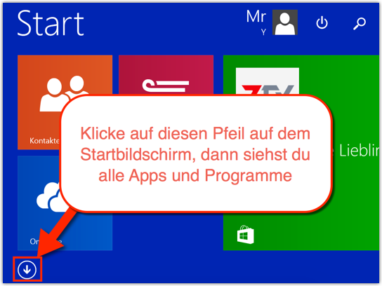 Windows 8.1 Alle Programme anzeigen
