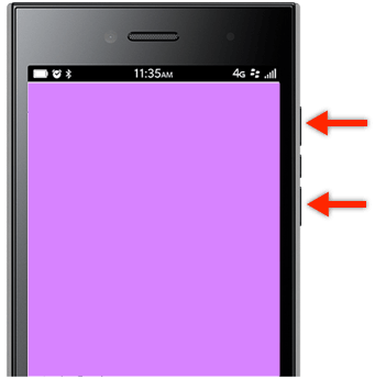 BlackBerry Leap Screenshot Tasten für Bildschirmfotos