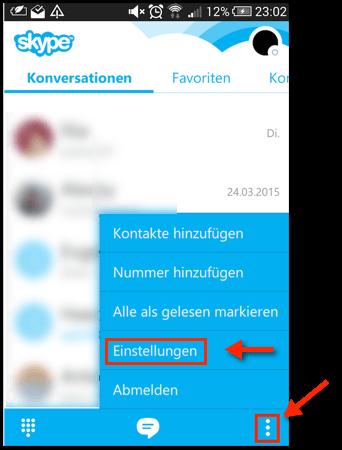 konversationen auf skype löschen