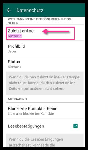 Whatsapp zuletzt online nicht anzeigen